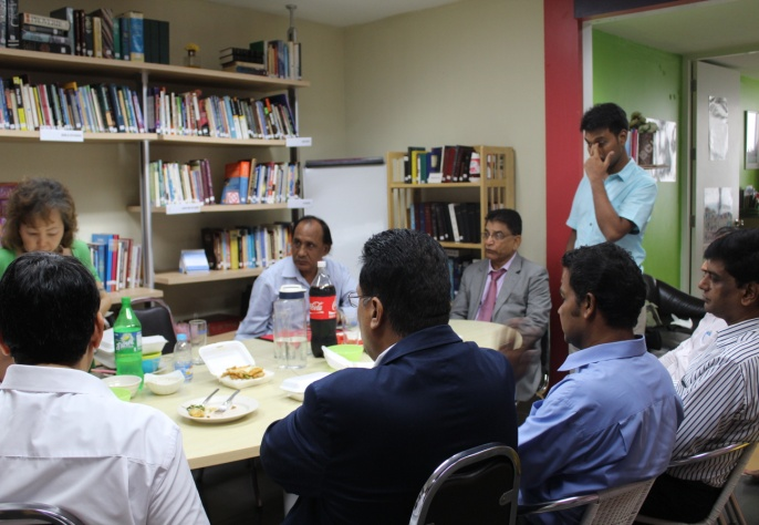 Meeting with christian Asylam seekers